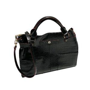 Lodis Croc Embossed Leather Tote